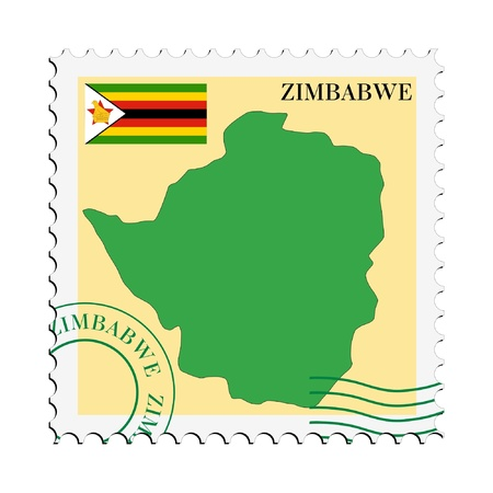 mail to/from Zimbabwe Stock Vector - 11899410