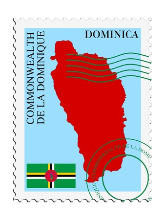 dominica: mail tofrom Dominica Illustration