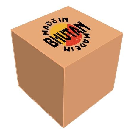bhutan: Made in Bhutan Stock Illustratie