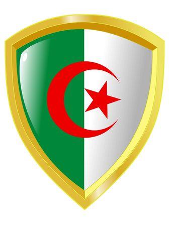 Algeria: emblem of Algeria Illustration