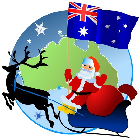 Merry Christmas, Australia! Vector