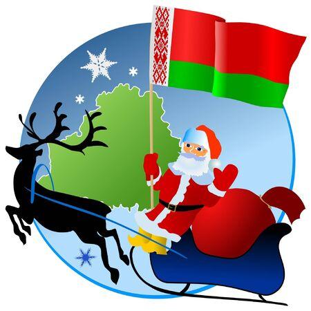 Merry Christmas, Belarus! Stock Vector - 11934384