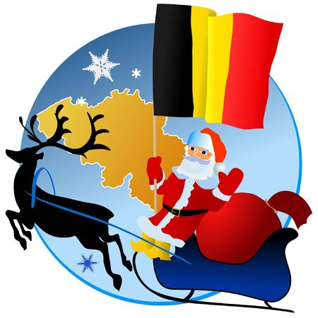 Merry Christmas, Belgium! Stock Vector - 11934388
