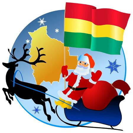 waiving: Merry Christmas, Bolivia! Illustration