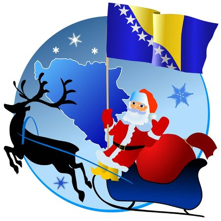 Merry Christmas, Bosnia and Herzegovina! Vector