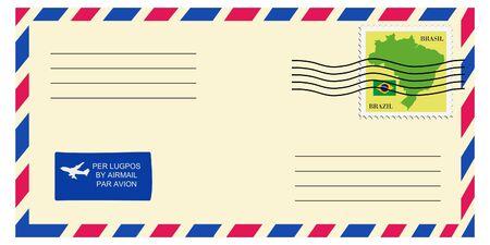mailer: letter tofrom Brazil