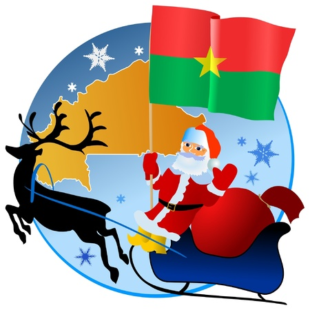 waiving: Merry Christmas, Burkina Faso! Illustration