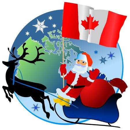 waiving: Merry Christmas, Canada! Illustration