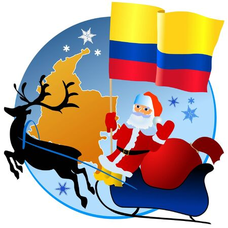 Merry Christmas, Colombia! Vector