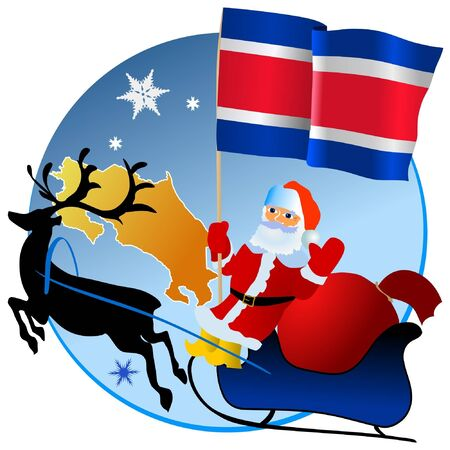 waiving: Merry Christmas, Costa Rica! Illustration