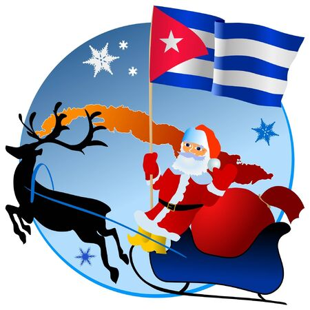 waiving: Merry Christmas, Cuba! Illustration