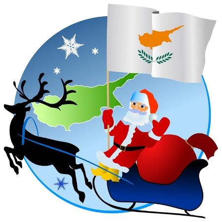 Merry Christmas, Cyprus! Stock Vector - 11934373
