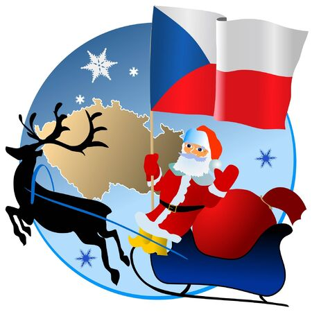 Merry Christmas, Czech Republic! Vector