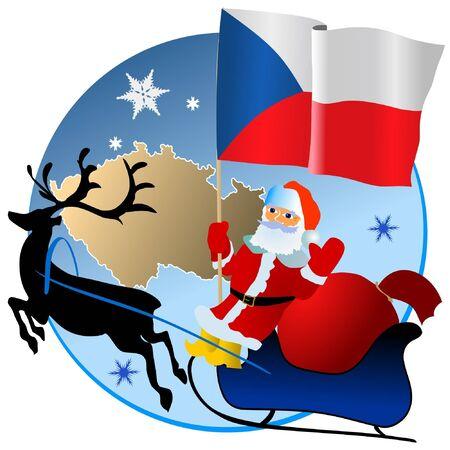 Merry Christmas, Czech Republic! Vector