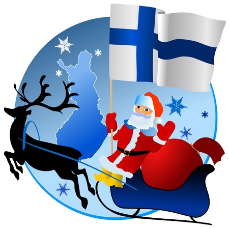 waiving: Merry Christmas, Finland! Illustration