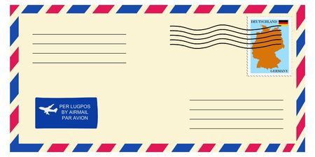 mailer: letter tofrom Germany Illustration