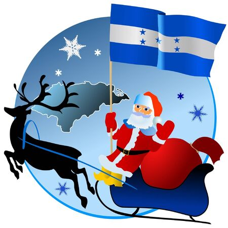 waiving: Merry Christmas, Honduras! Illustration