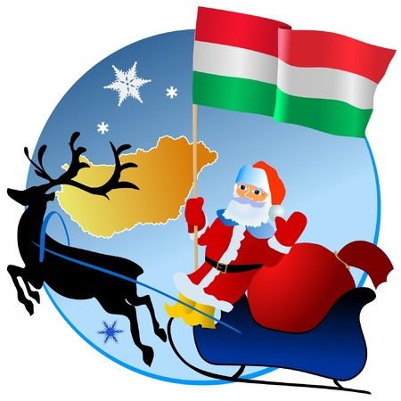 Merry Christmas, Hungary! Vector