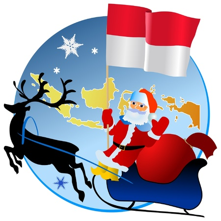 waiving: Merry Christmas, Indonesia! Illustration