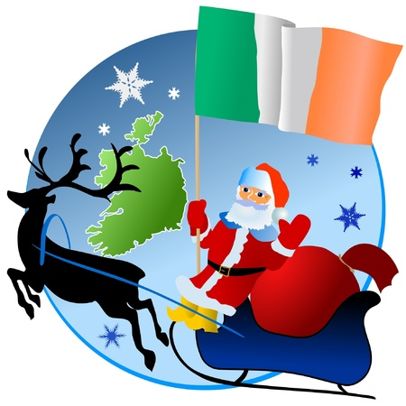 Merry Christmas, Ireland! Vector