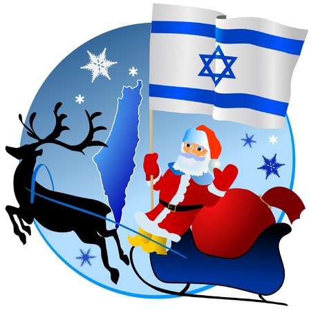 Merry Christmas, Israel! Stock Vector - 11934371