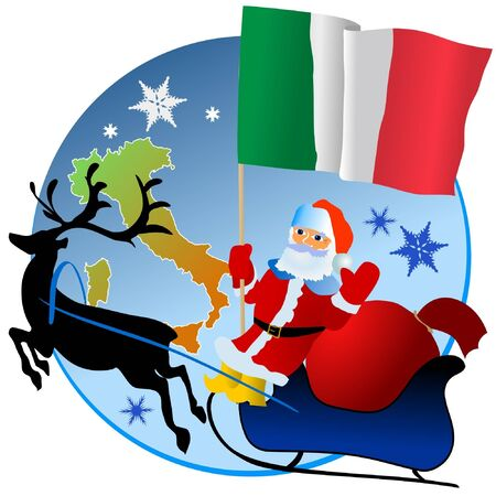 Merry Christmas, Italy! Vector