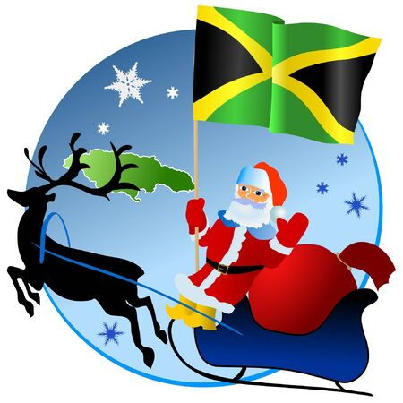 Merry Christmas, Jamaica! Stock Vector - 11934385