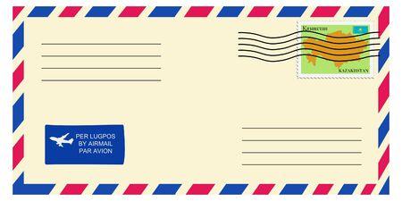 letter tofrom Kazakhstan Vector