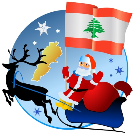 waiving: Merry Christmas, Lebanon!