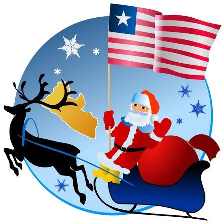 waiving: Merry Christmas, Liberia! Illustration