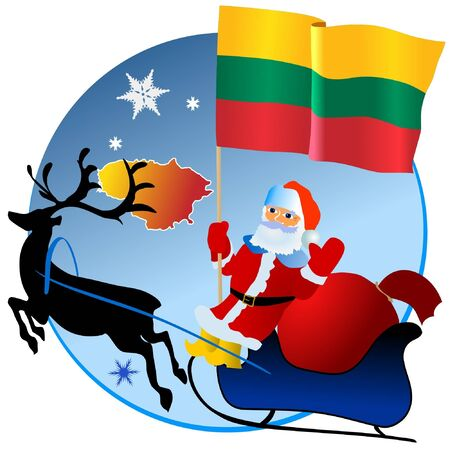 waiving: Merry Christmas, Lithuania! Illustration