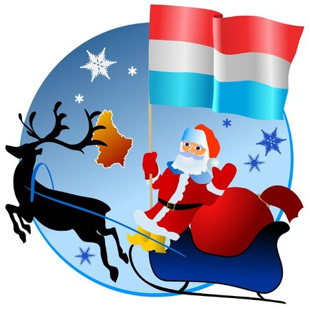 Merry Christmas, Luxembourg! Stock Vector - 11934389
