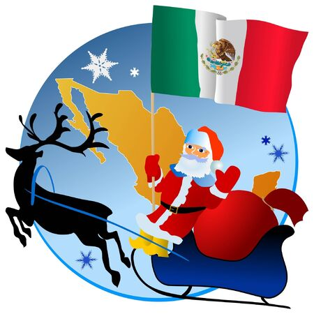 Merry Christmas, Mexico! Vector