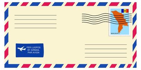 moldova: letter tofrom Moldova Illustration