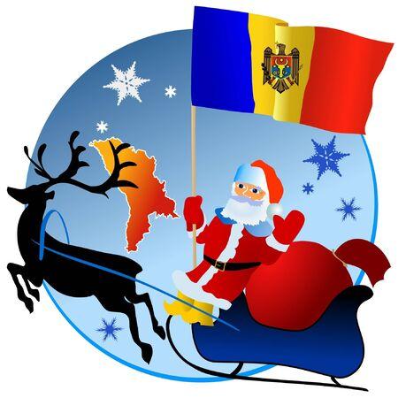 waiving: Merry Christmas, Moldova! Illustration