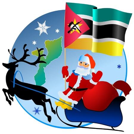 Merry Christmas, Mozambique! Stock Vector - 11934381