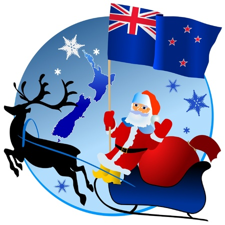 waiving: Merry Christmas, New Zealand! Illustration