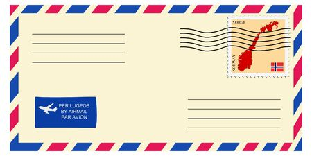 mailer: letter tofrom Norway Illustration