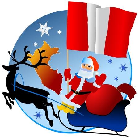 mapa peru: Feliz Navidad, Per�!