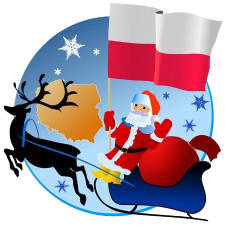 waiving: Merry Christmas, Poland! Illustration