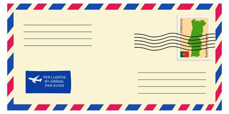 mailer: letter tofrom Portugal Illustration