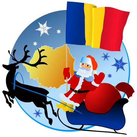 Merry Christmas, Romania! Stock Vector - 11934378