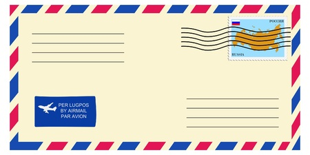 mailer: letter tofrom Russia Illustration