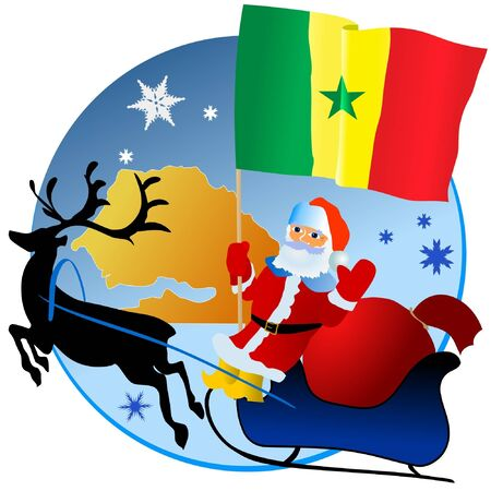 Merry Christmas, Senegal! Stock Vector - 11934372