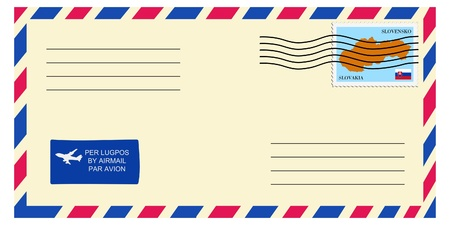 mailer: letter tofrom Slovakia Illustration