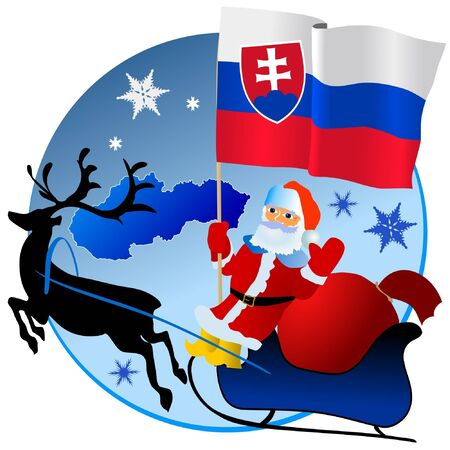 waiving: Merry Christmas, Slovakia! Illustration