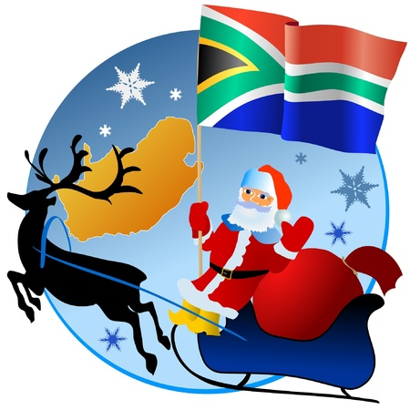 Merry Christmas, South Africa! Vector