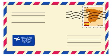 mailer: letter tofrom Spain