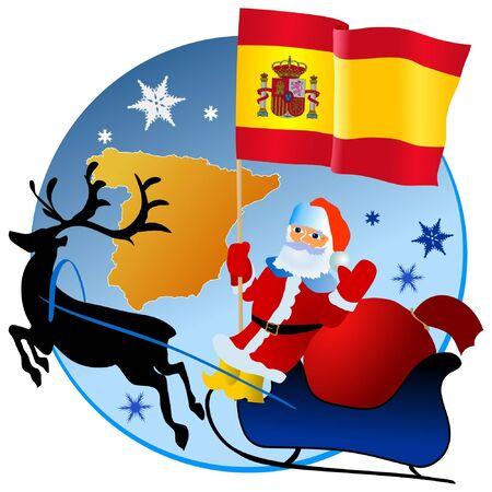 Merry Christmas, Spain! Stock Vector - 11934470