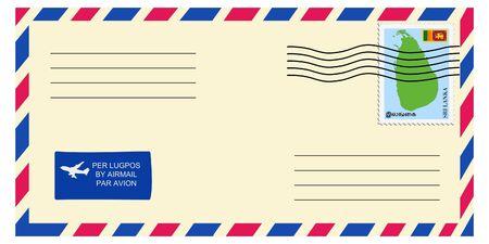 letter tofrom Sri Lanka Vector